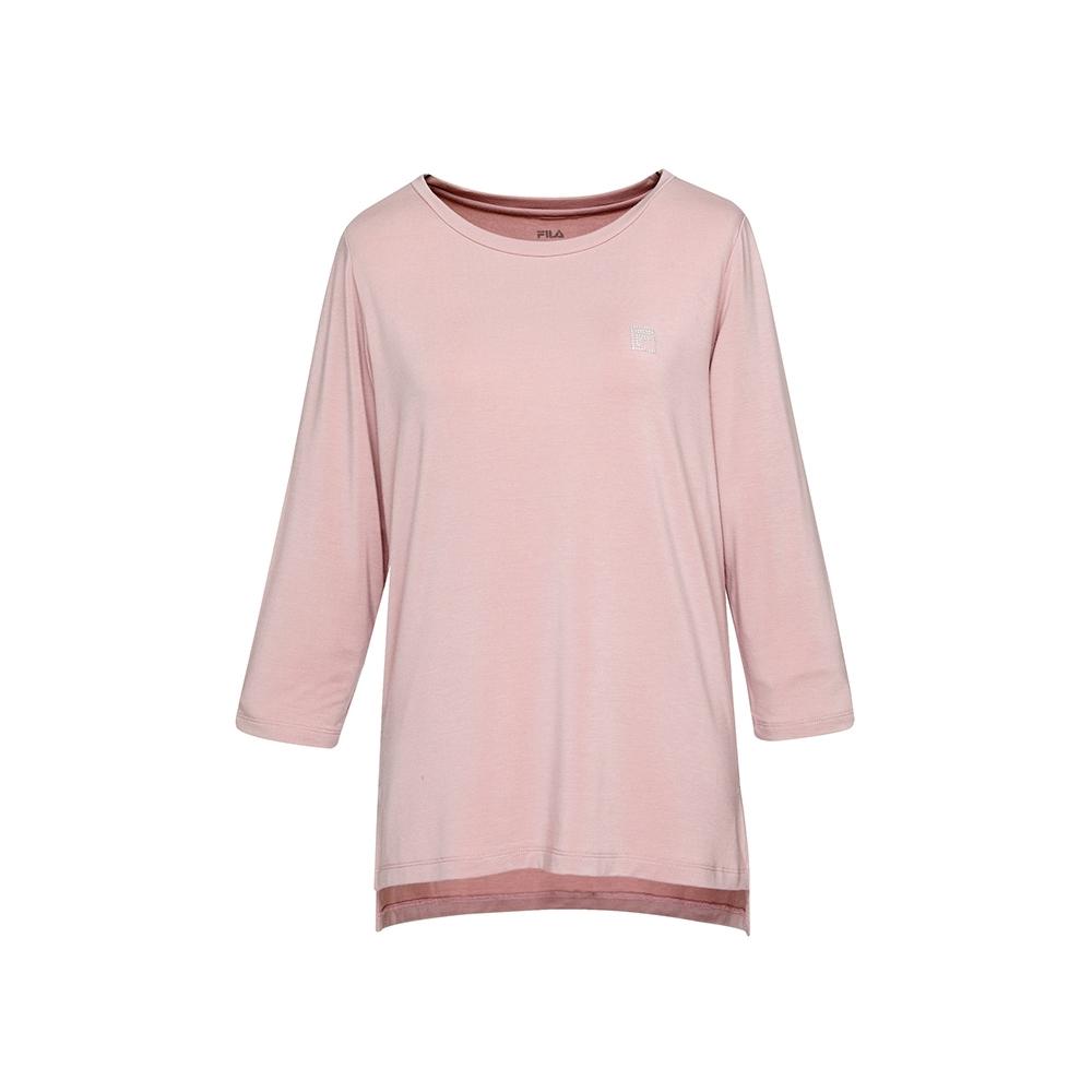FILA 女七分袖T恤-粉色 5TEU-5603-PK