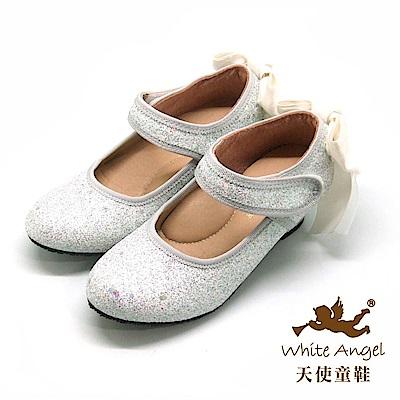 天使童鞋 冰晶星宇公主高跟鞋 J892-06 白
