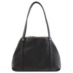 BOTTEGA VENETA 柔軟羊皮雙面托特購物包(黑/中)