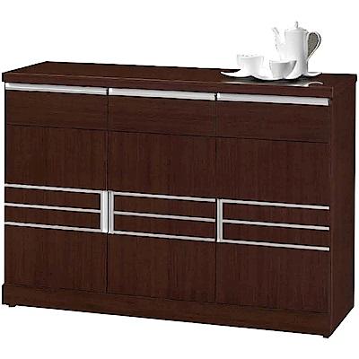 綠活居 米奧時尚4尺木紋餐櫃/收納櫃(二色可選)-120x45x84cm免組
