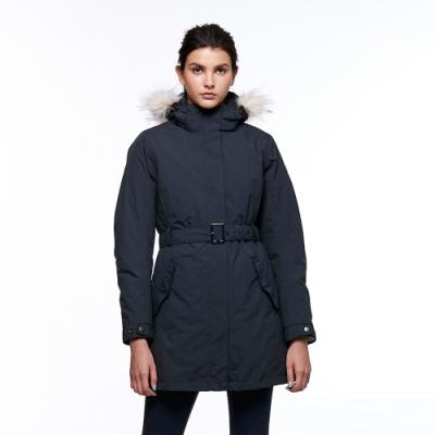 【HAKERS 哈克士】女 三合一防水長版外套(黑色)