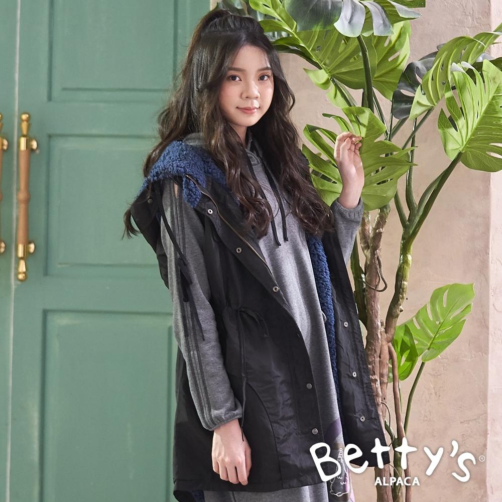betty's貝蒂思 內刷毛無袖鋪棉背心外套(黑色)