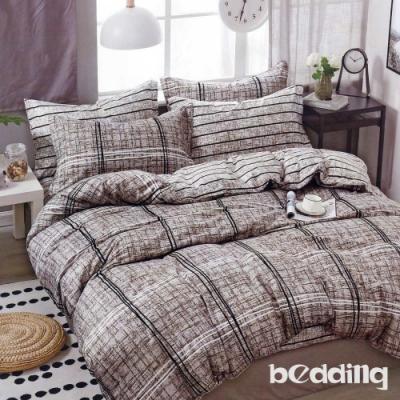 BEDDING-活性印染6尺雙人加大薄床包三件組-幸福家園