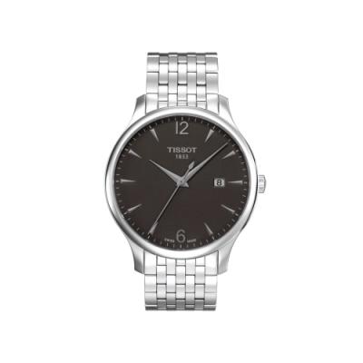 TISSOT Tradition 復刻大三針腕錶-鉛灰/42mm T0636101106700
