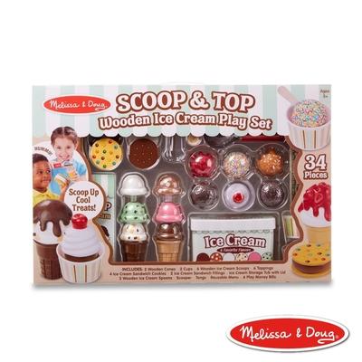【Melissa & Doug 瑪莉莎】限定款-叭噗 ! 木製冰淇淋遊戲組