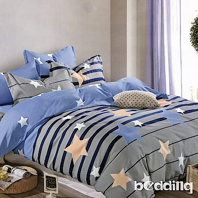 BEDDING-活性印染雙人鋪棉床包兩用被套四件組-愛尚星球
