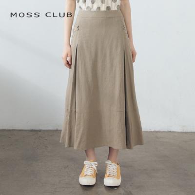 【MOSS CLUB】日系長版舒適-裙子(卡色)