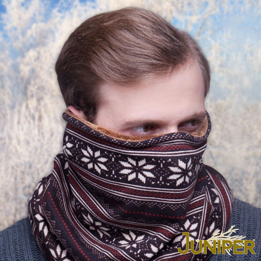 JUNIPER 男女雙面防寒針織加絨保暖滑雪套頭護脖冬帽