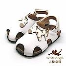 天使童鞋 可愛小班馬護趾涼鞋(小童)E136-白