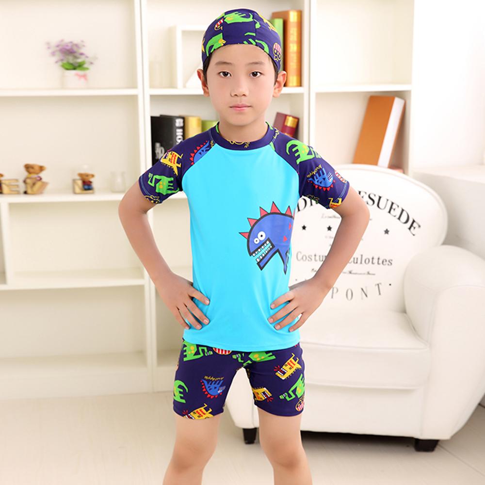 Biki比基尼妮泳衣   恐龍短袖兒童泳衣小朋友游泳衣(S-3XL)