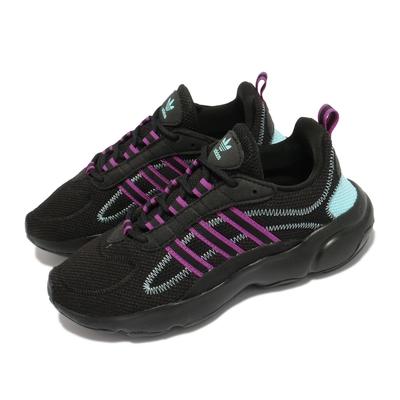 adidas 休閒鞋 Haiwee W 運動 女鞋 海外限定 愛迪達 舒適 簡約 穿搭 黑 紫 EF4457