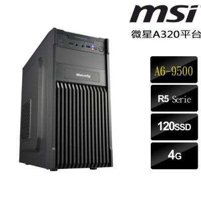 微星 A320平台[靈光再現] (A6-9500/4G/120G/400W)