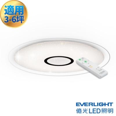 億光 LED 3-6坪 4550LM 智慧 調光調色 遙控吸頂燈 超節能款 全電壓 星夜