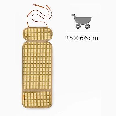 媽咪小站-Mammy Shop 3D天然纖維柔藤墊(手推車/汽車座用/25x66cm)