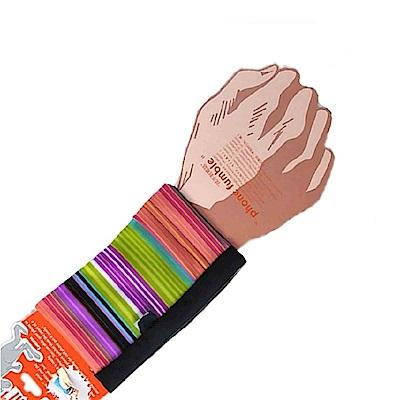 PCMAMA多用途運動手臂套手機套手腕袋手腕套Wrist Bag(黑+彩紋WC171;可放零錢紙鈔信用卡悠遊卡一卡通)