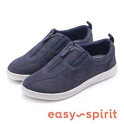 Easy Spirit-FLY 舒適彈性帶運動休閒鞋-藍色