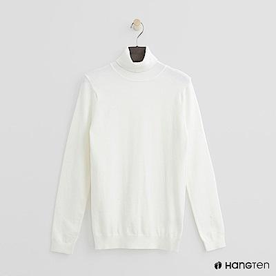 Hang Ten - 女裝 - 質感高領針織上衣-白