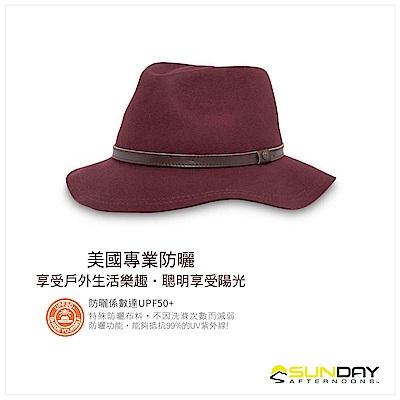 女 抗UV防潑紳士帽 酒紅 Tessa