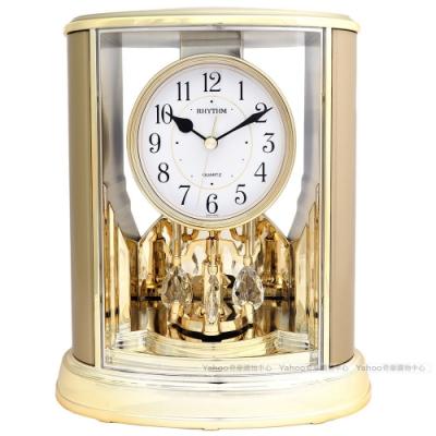 RHYTHM日本麗聲 歐風世紀經典宮廷裝飾座鐘(典雅香檳金)/24cm