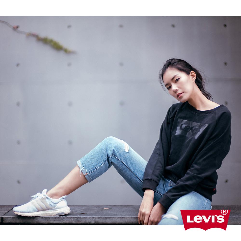 Levis 女款 501 中低腰排釦直筒牛仔長褲 褲頭 褲管裁剪破壞