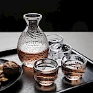 Homely Zakka 和風錘木紋酒壺酒杯組