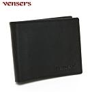 vensers 小牛皮潮流個性皮夾~(NB019902黑色短夾)