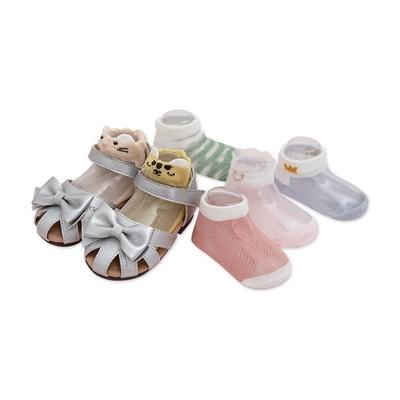 colorland【5雙入】兒童襪子超薄棉鏤空嬰幼寶寶冰絲船襪