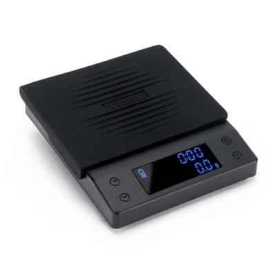 Tiamo CT2000專業計時電子秤 2kg - 時尚黑(HK0537BK)