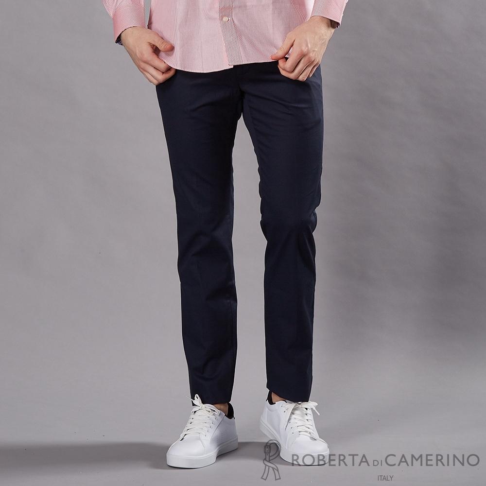 ROBERTA諾貝達 合身版 條紋風采 純棉休閒褲 藍色