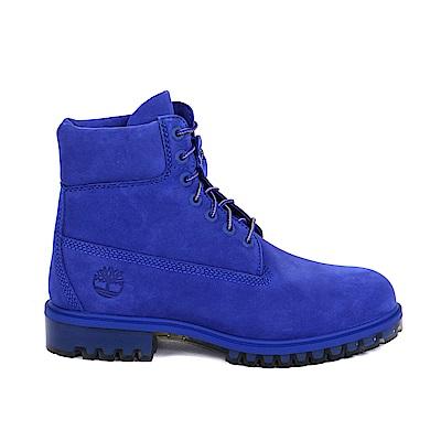 Timberland 男款亮藍色絨面TPU款6吋靴 | A1M1D466