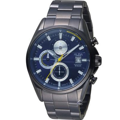 ALBA雅柏 潮流時尚計時腕錶(AM3601X1)藍43mm