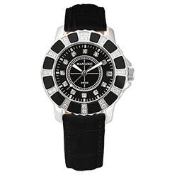 Manlike 曼莉萊克 陶瓷限量機械女錶 黑色皮帶
