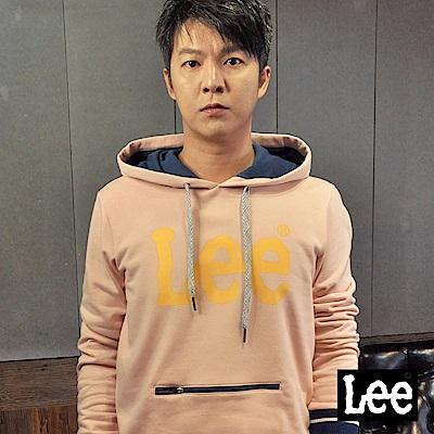 Lee 拉鍊口袋大LOGO長袖連帽TEE恤/RG