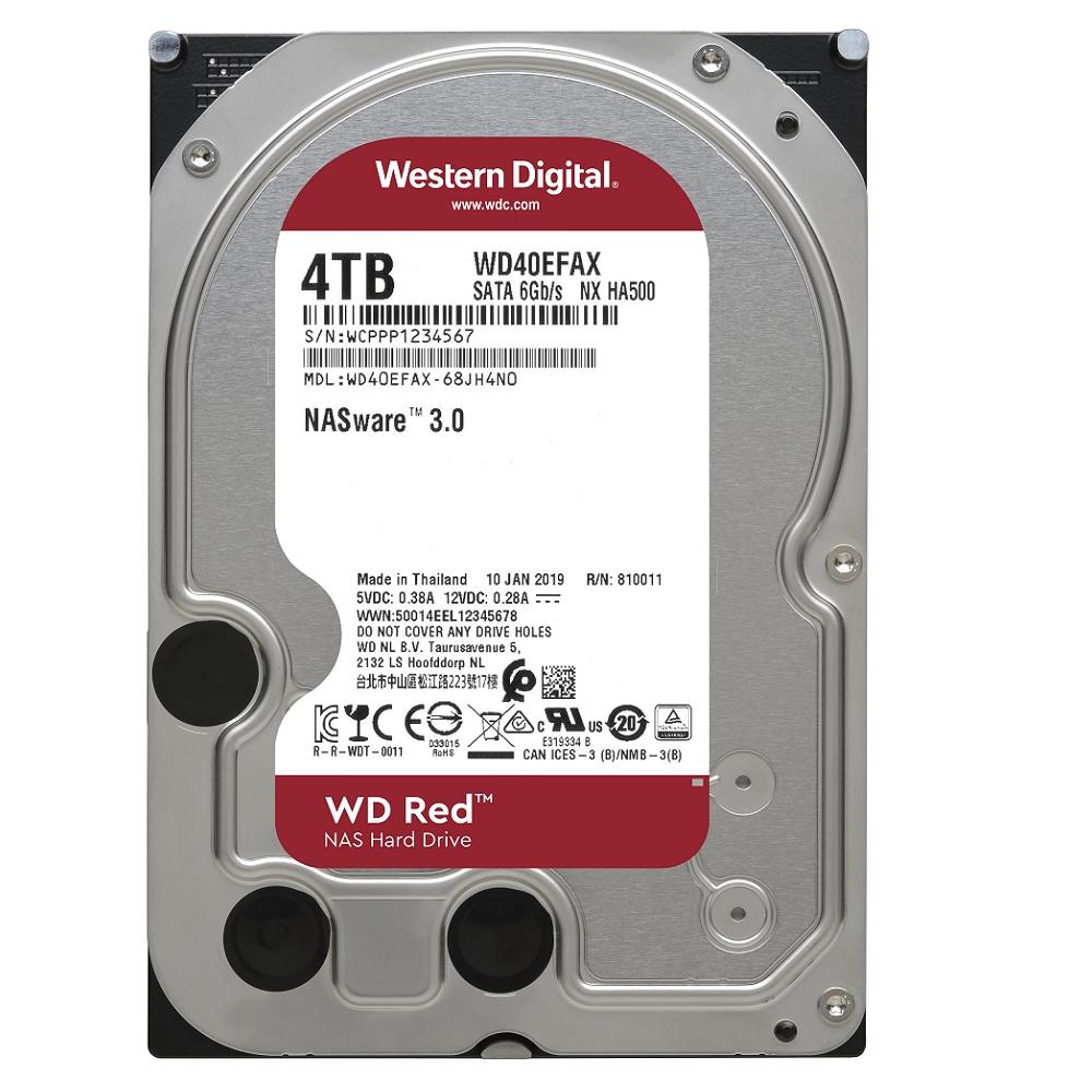 WD40EFAX 紅標 4TB 3.5吋NAS硬碟(NASware3.0)