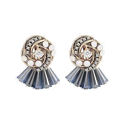 LOVER S TEMPO加拿大品牌 水晶扭結造型耳環