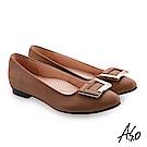 A.S.O 義式簡約 精選質感時尚亮眼高跟鞋 卡其