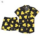 aimerfeel 短袖襯衫成套睡衣-黃色 -823266-YE