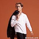 GIORDANO 男裝四季百搭刺繡彈力牛津紡襯衫-61 白色