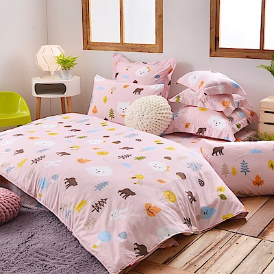英國Abelia 風起雲湧的楓葉團 特大天使絨兩用被床包組