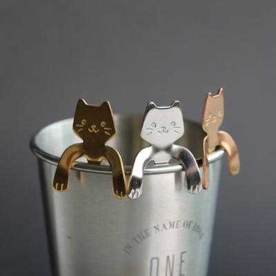 Cap 304不鏽鋼貓咪湯匙