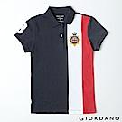 GIORDANO 女裝英倫皇家刺繡彈力萊卡POLO衫-65 海軍藍/白/紅