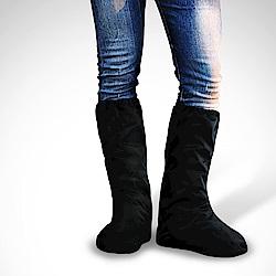 【TDN】長筒速乾快速穿脫超輕量防水鞋套- 黑