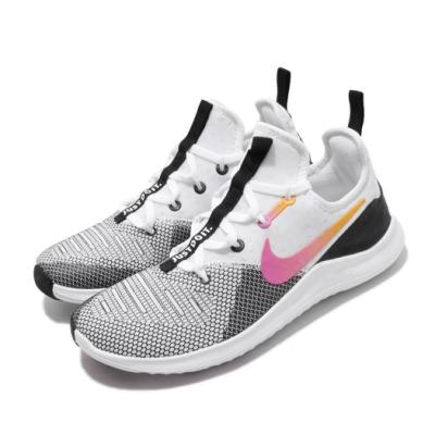 Nike 訓練鞋 Free TR 8 運動 女鞋 襪套 輕量 透氣 舒適 避震 健身房 黑 白 942888008