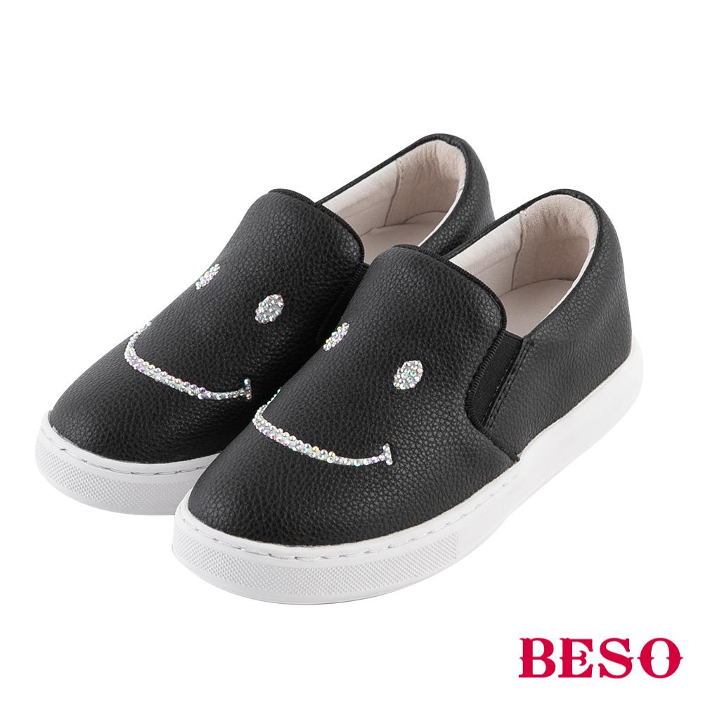 BESO 純真年代 閃耀笑臉休閒鞋(童鞋)~黑