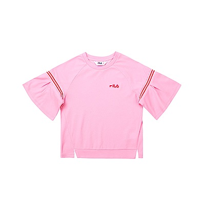 FILA KIDS 童吸濕排汗針織上衣-粉色 5TET-4438-PK