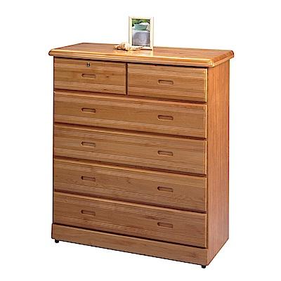 綠活居 尼力時尚3.4尺實木六斗櫃/收納櫃-103x55x119.5cm-免組