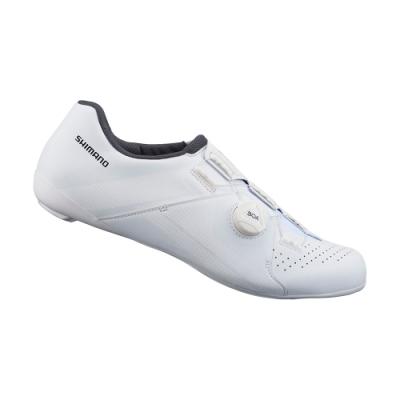 【SHIMANO】RC300 男性公路車性能型車鞋 寬楦 白色