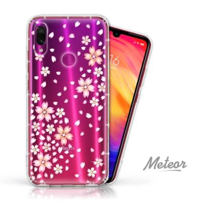 Meteor MI 紅米 Note 7 奧地利水鑽殼 - 櫻花