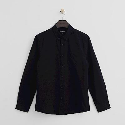 Hang Ten - 男裝 - 經典休閒純棉襯衫-深藍色