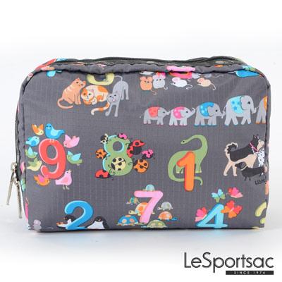 LeSportsac - Standard大型旅行收納包 (動物數數)